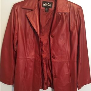 Red  100% Genuine Leather Jacket